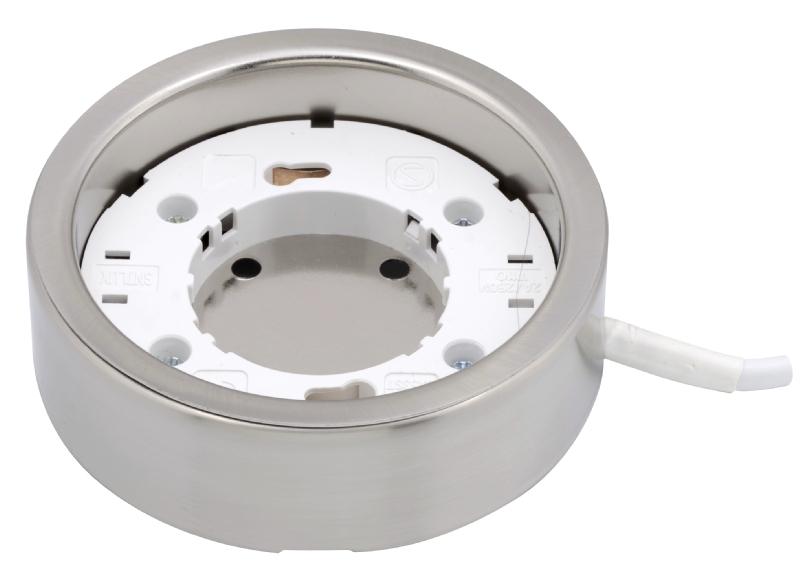Circular mains light fitting