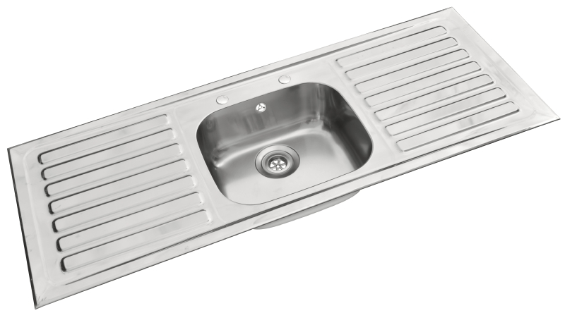 Pyramis single bowl double drainer sink