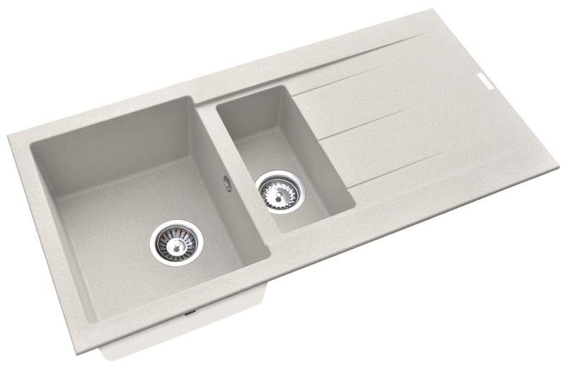 Pyramis Alazia composite sandstone 1½ bowl sink