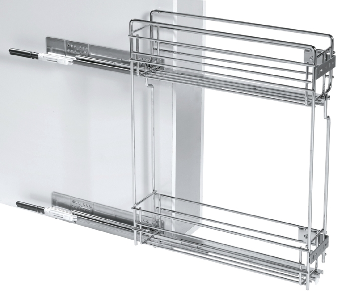 Soft close chrome mini base unit