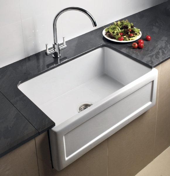 RAK Ceramics white ceramic Butler sink