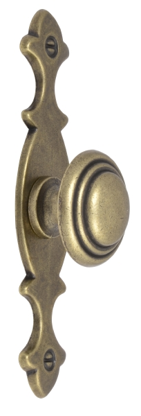 Knob and plate