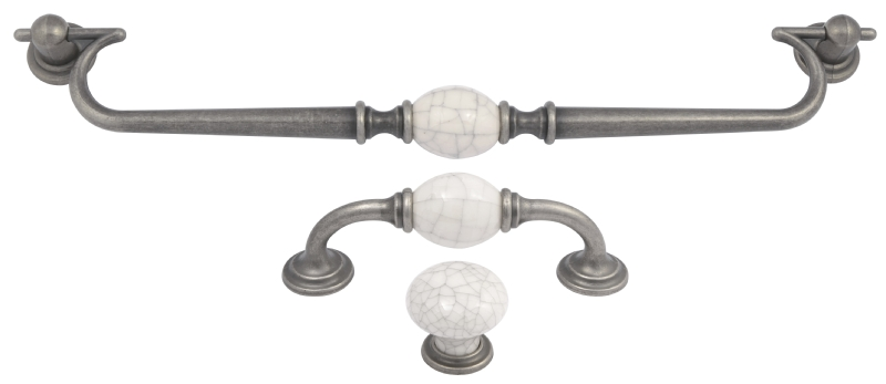 Antique pewter grey crackle collection