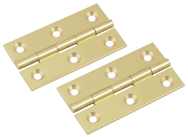 Polished brass butt hinge