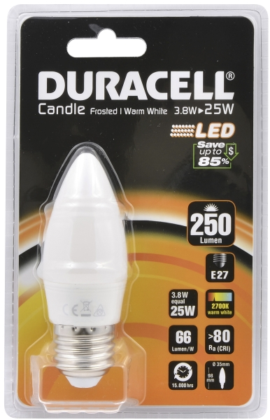 Duracell LED candle lamp 25W