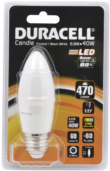 Duracell LED candle lamp 40W