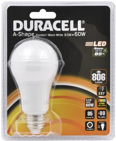 Duracell LED GLS globe 60W