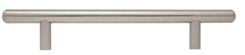 Brushed nickel T bar handle