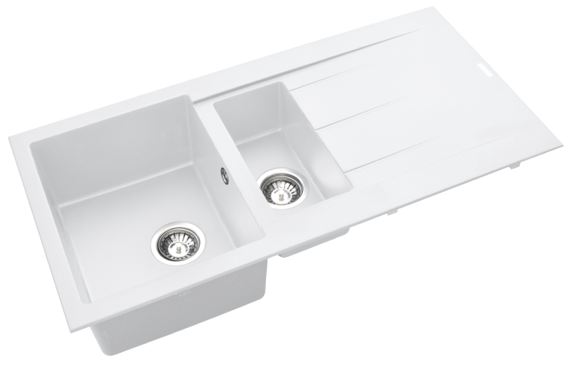 Pyramis Alazia composite white 1½ bowl sink