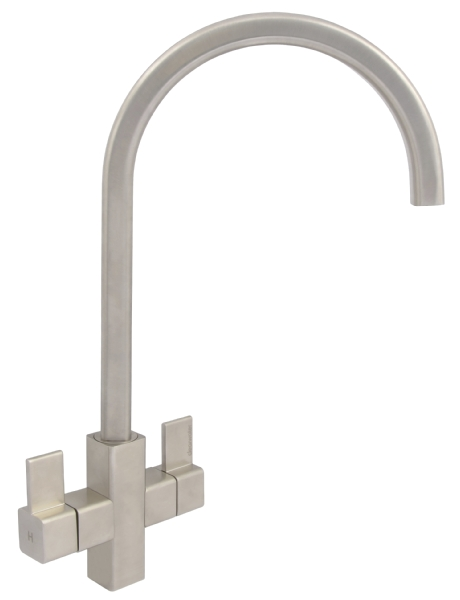 Cherika square brushed nickel tap