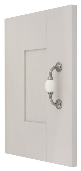 Pewter white ceramic handle collection