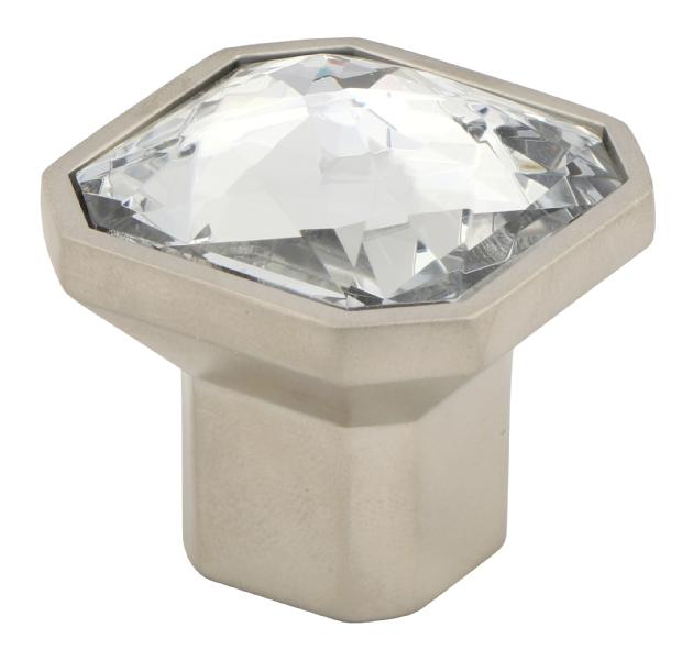 Square crystal knob
