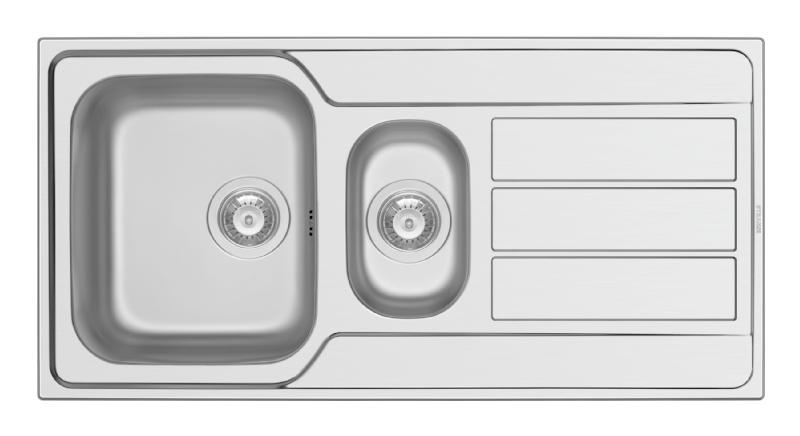 Pyramis Athena 1½ bowl sink