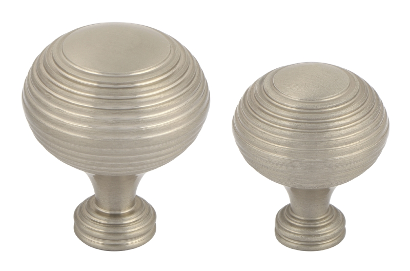System brushed nickel cup handle and matching knobs collection