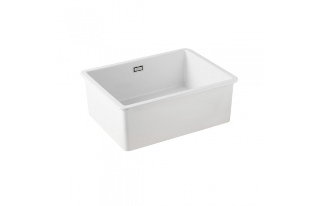 Sanindusa white ceramic large undermount sink