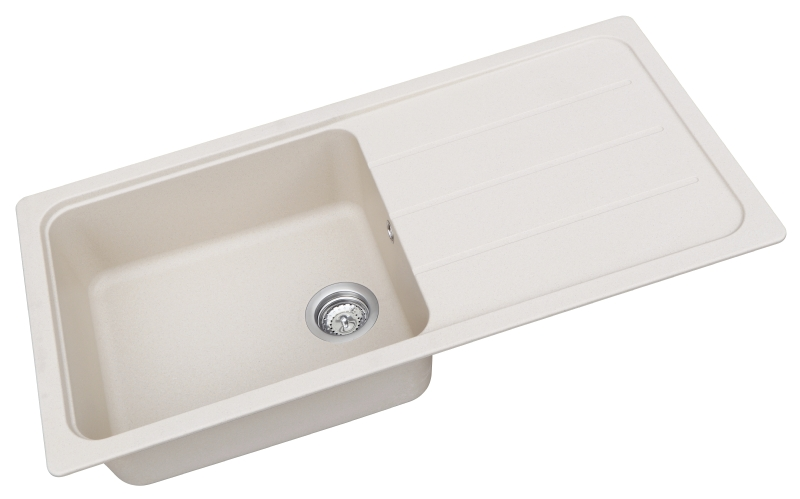 Schock cream composite single bowl sink