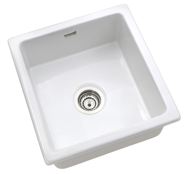 Large Bowl White Ceramic Undermount Sink Ceramic